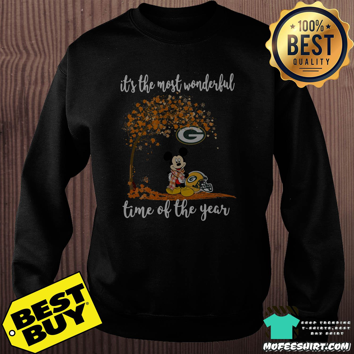 It's The Most Wonderful Time Of The Year Mickey mouse Autumn Green Bay Packers Logo shirt