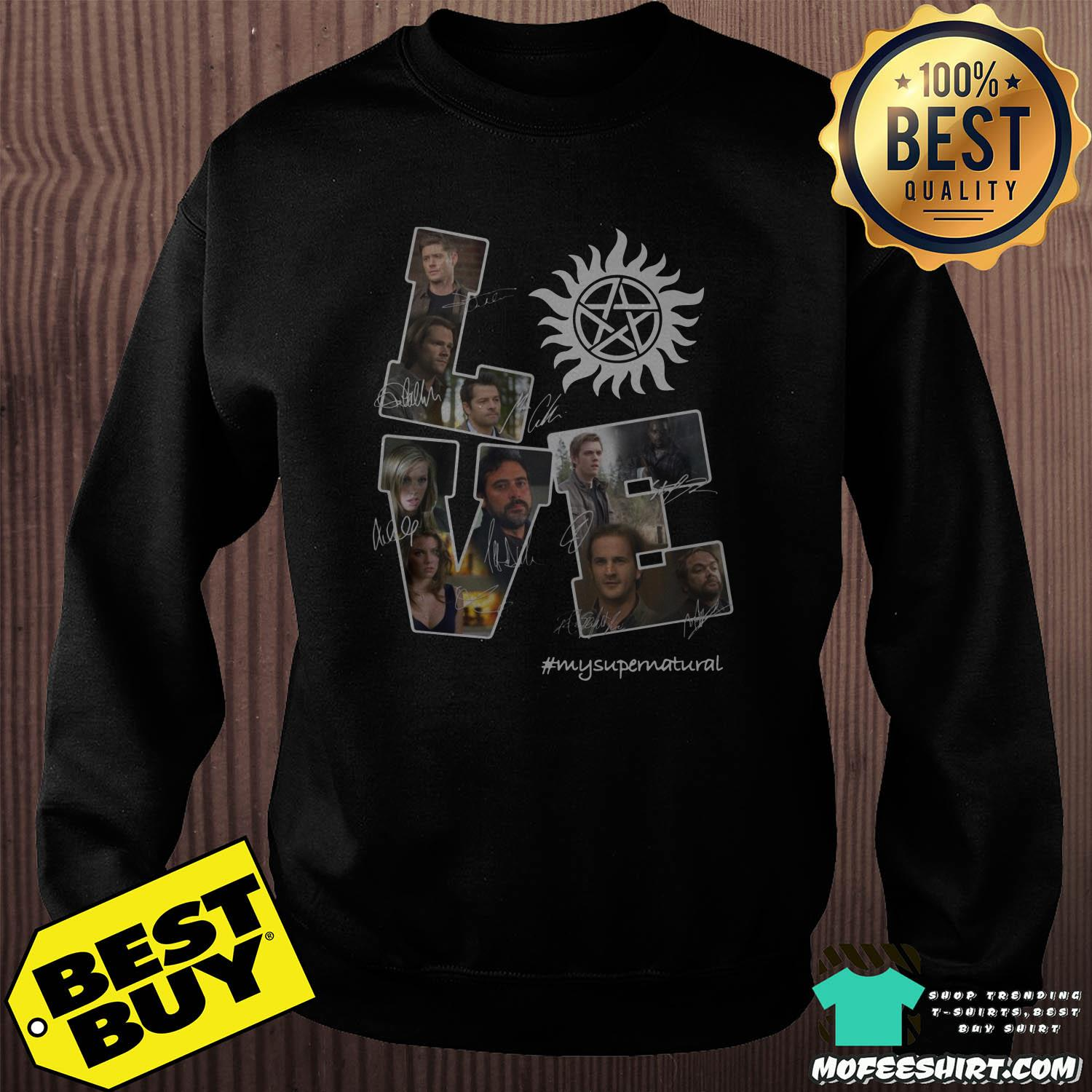 lve my supernatural signature sweatshirt - Love My Supernatural Signature Shirt