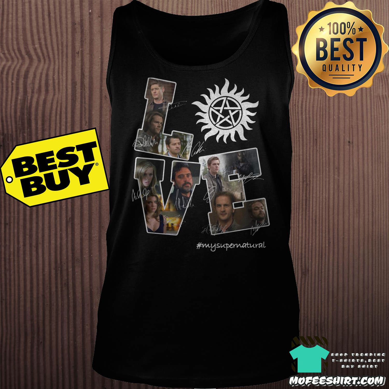 lve my supernatural signature tank top - Love My Supernatural Signature Shirt