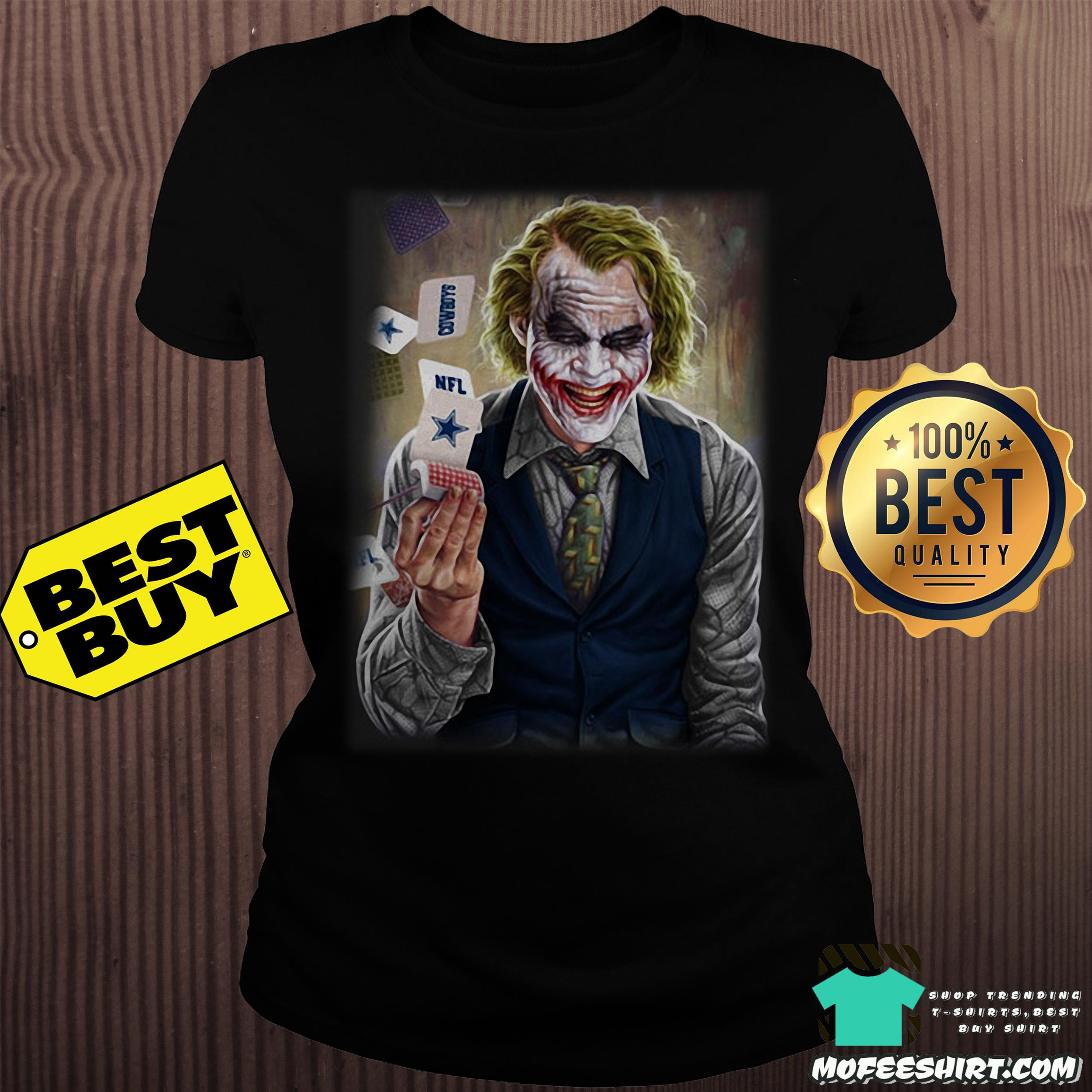 nfl joker playing cards dark knight ladies tee - NFL Joker Playing Cards Dark Knight shirt