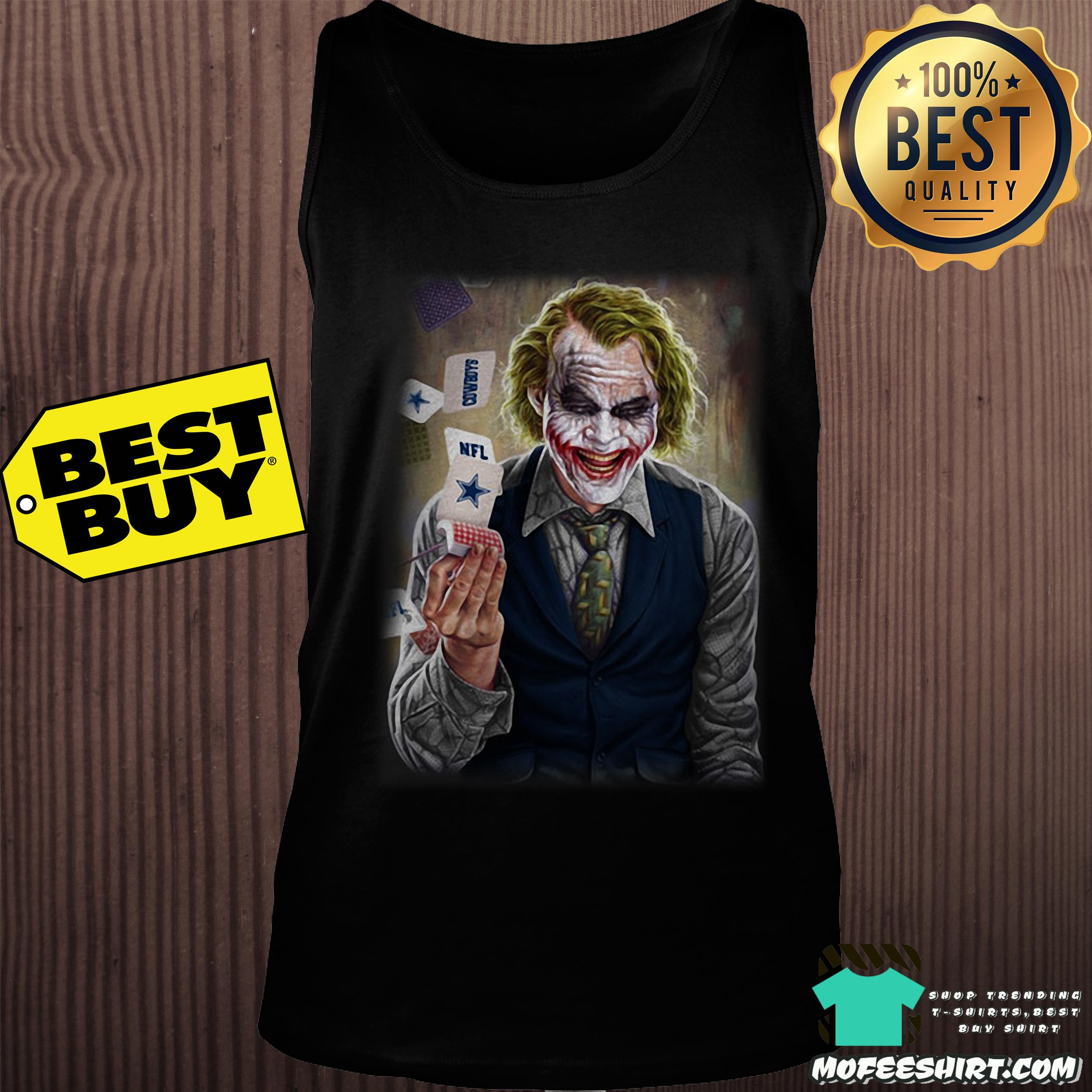 nfl joker playing cards dark knight tank top - NFL Joker Playing Cards Dark Knight shirt