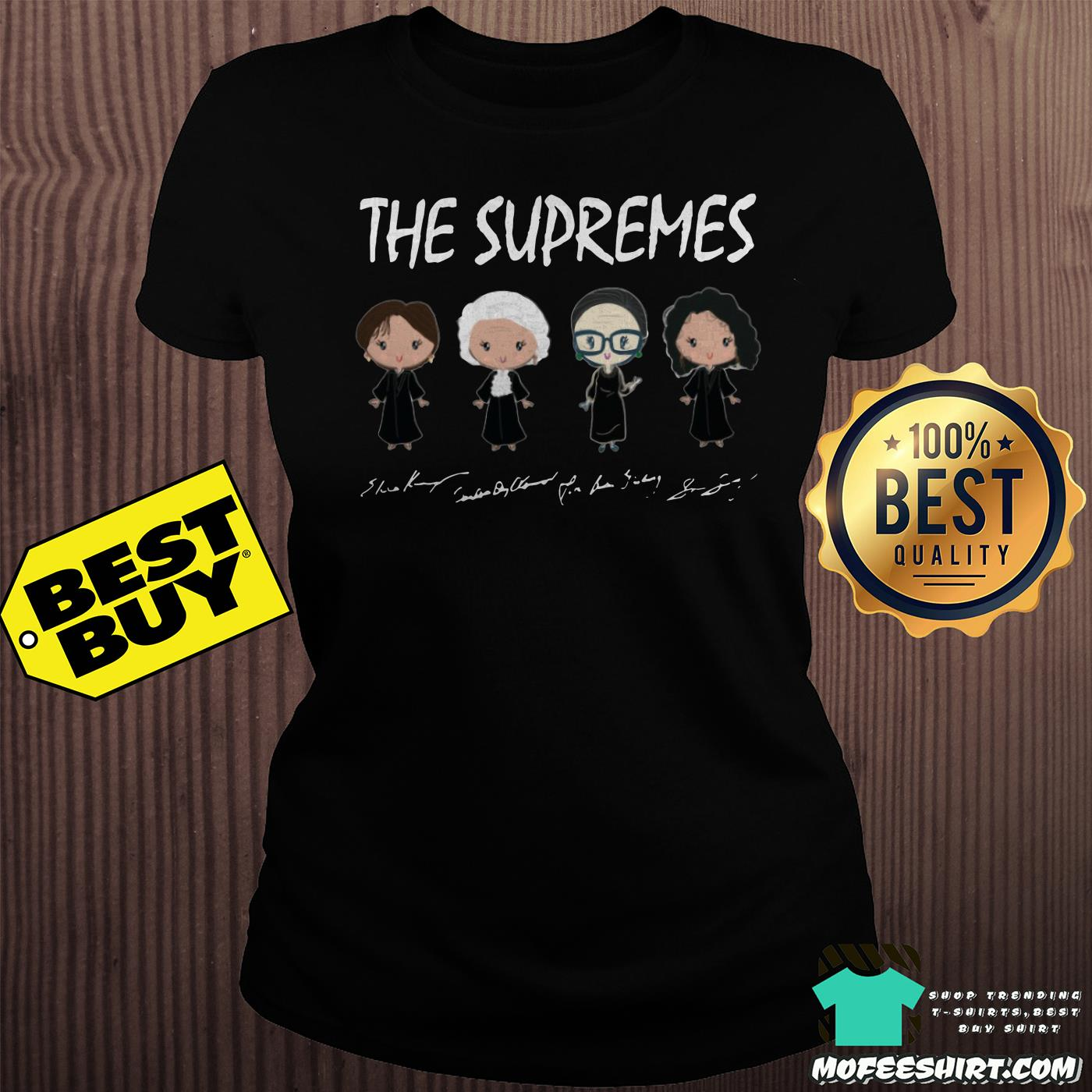 the supremes ruth bader ginsburg signatures ladies tee - The supremes Ruth Bader Ginsburg signatures shirt