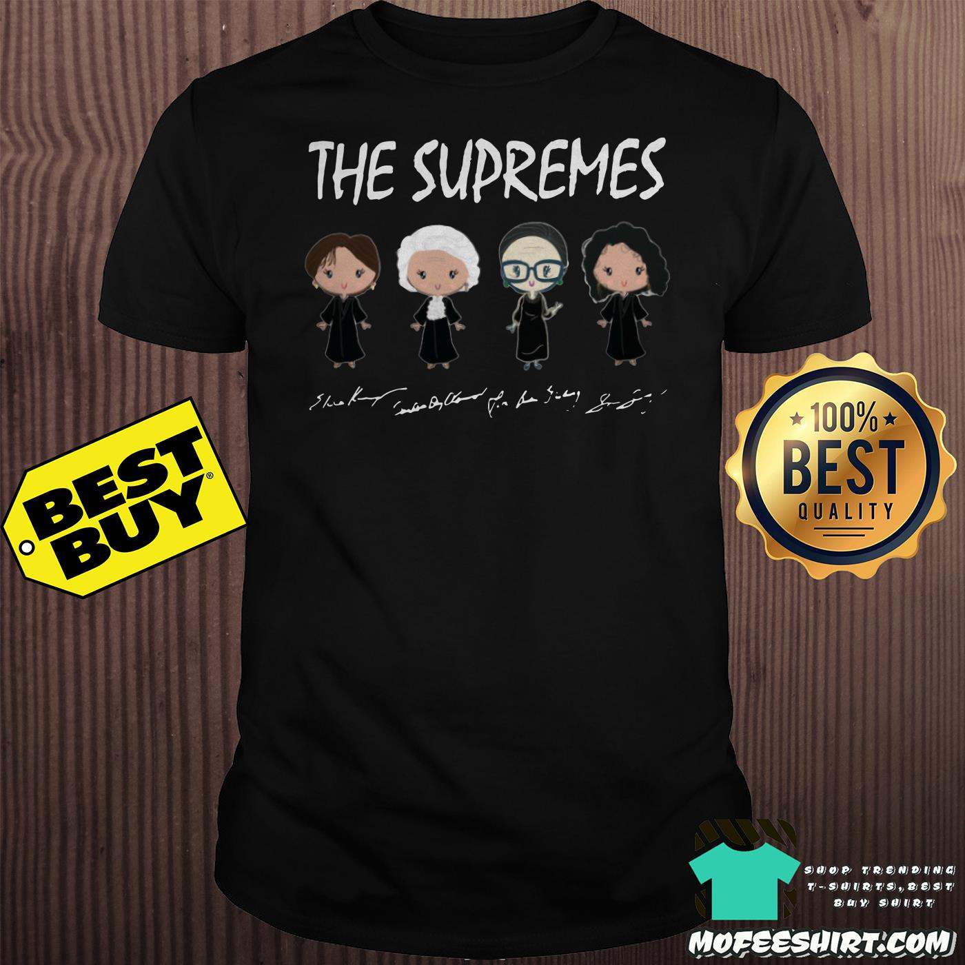 the supremes ruth bader ginsburg signatures shirt - The supremes Ruth Bader Ginsburg signatures shirt
