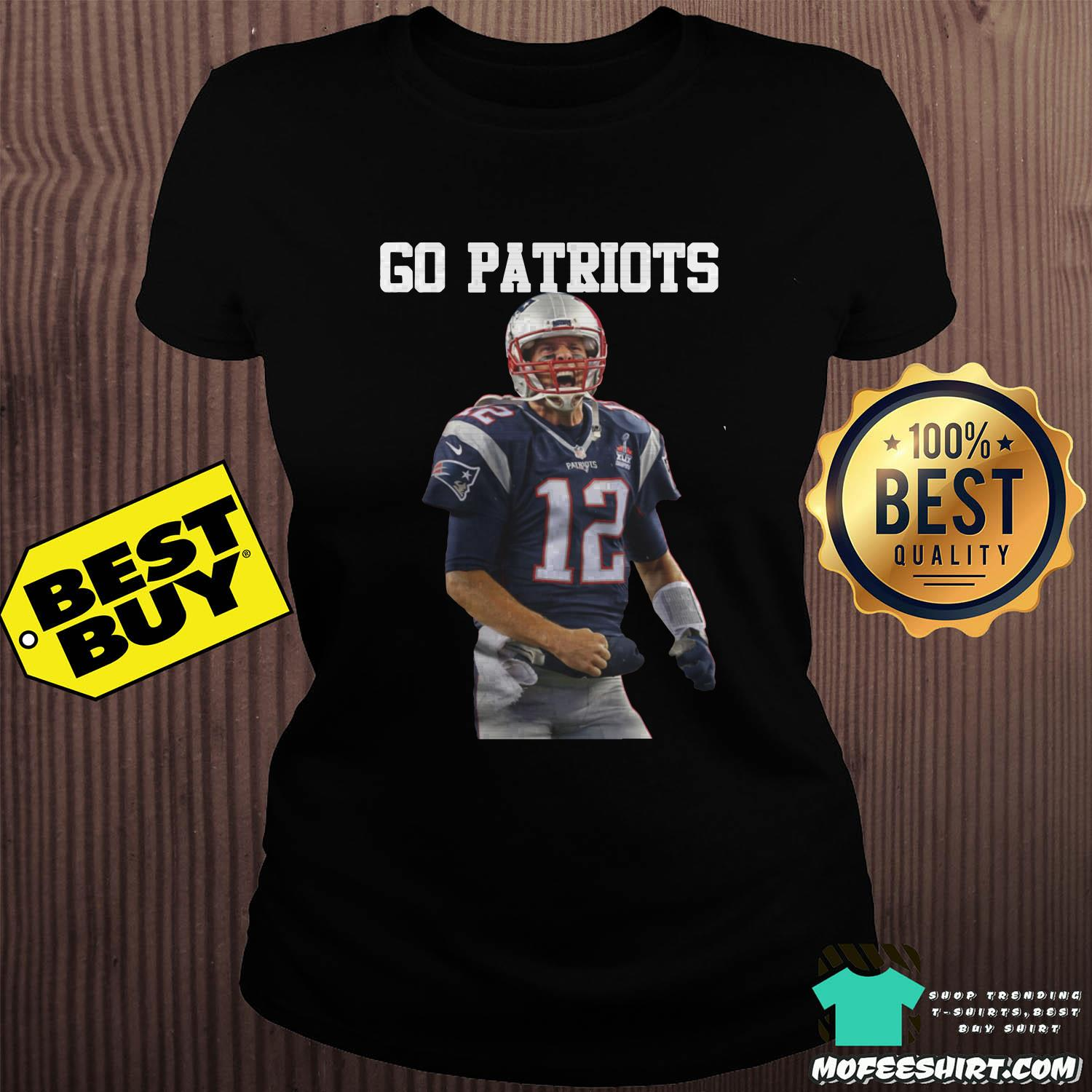 tom brady go patriots 12 rugby ladies tee - Tom Brady Go Patriots 12 Rugby Shirt