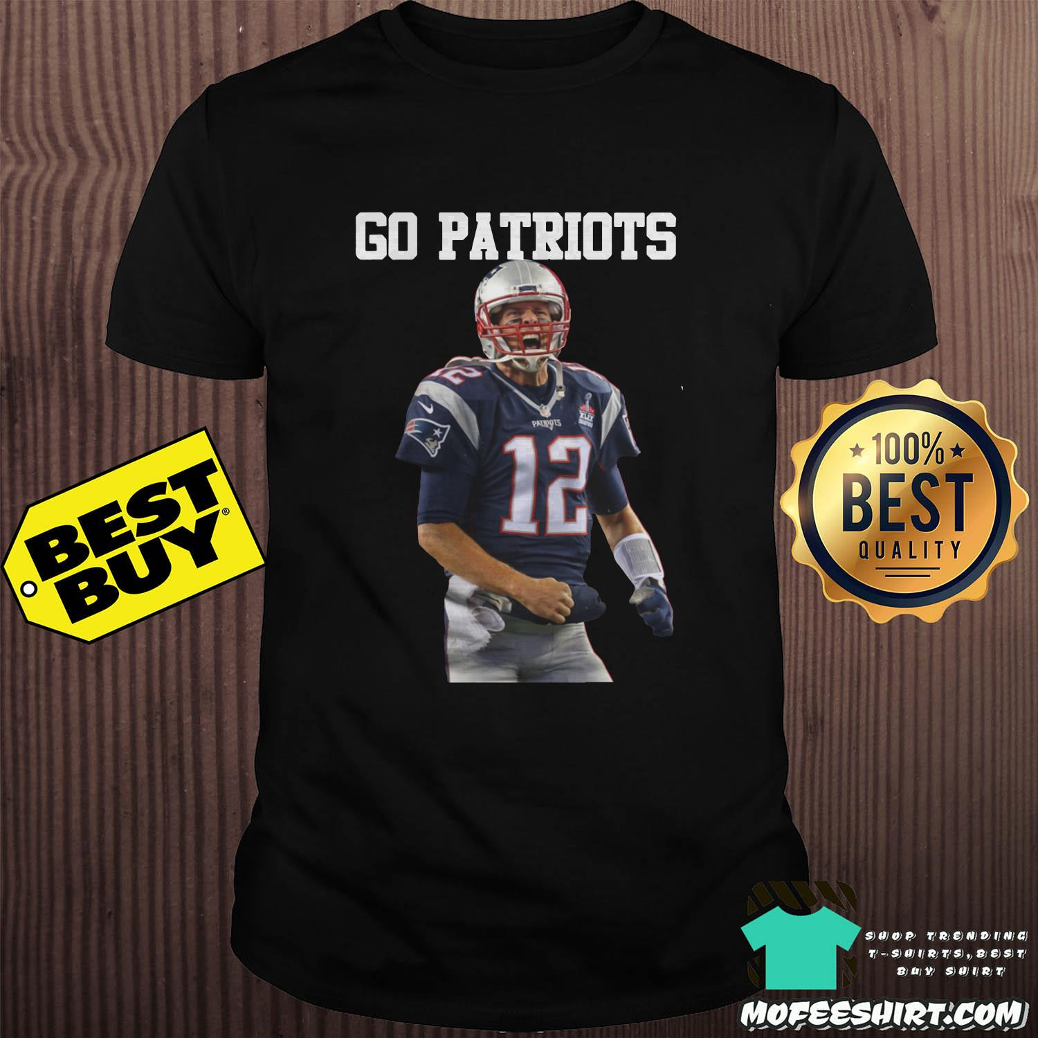 tom brady go patriots 12 rugby shirt - Tom Brady Go Patriots 12 Rugby Shirt