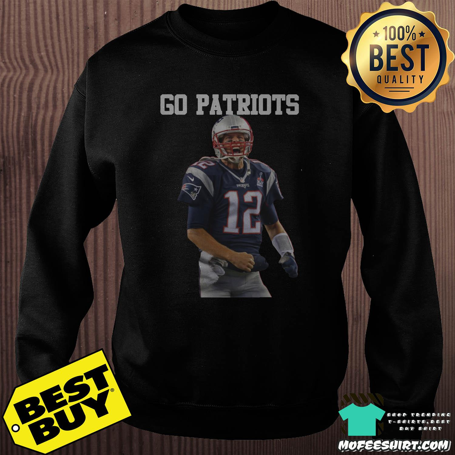 tom brady go patriots 12 rugby sweatshirt - Tom Brady Go Patriots 12 Rugby Shirt