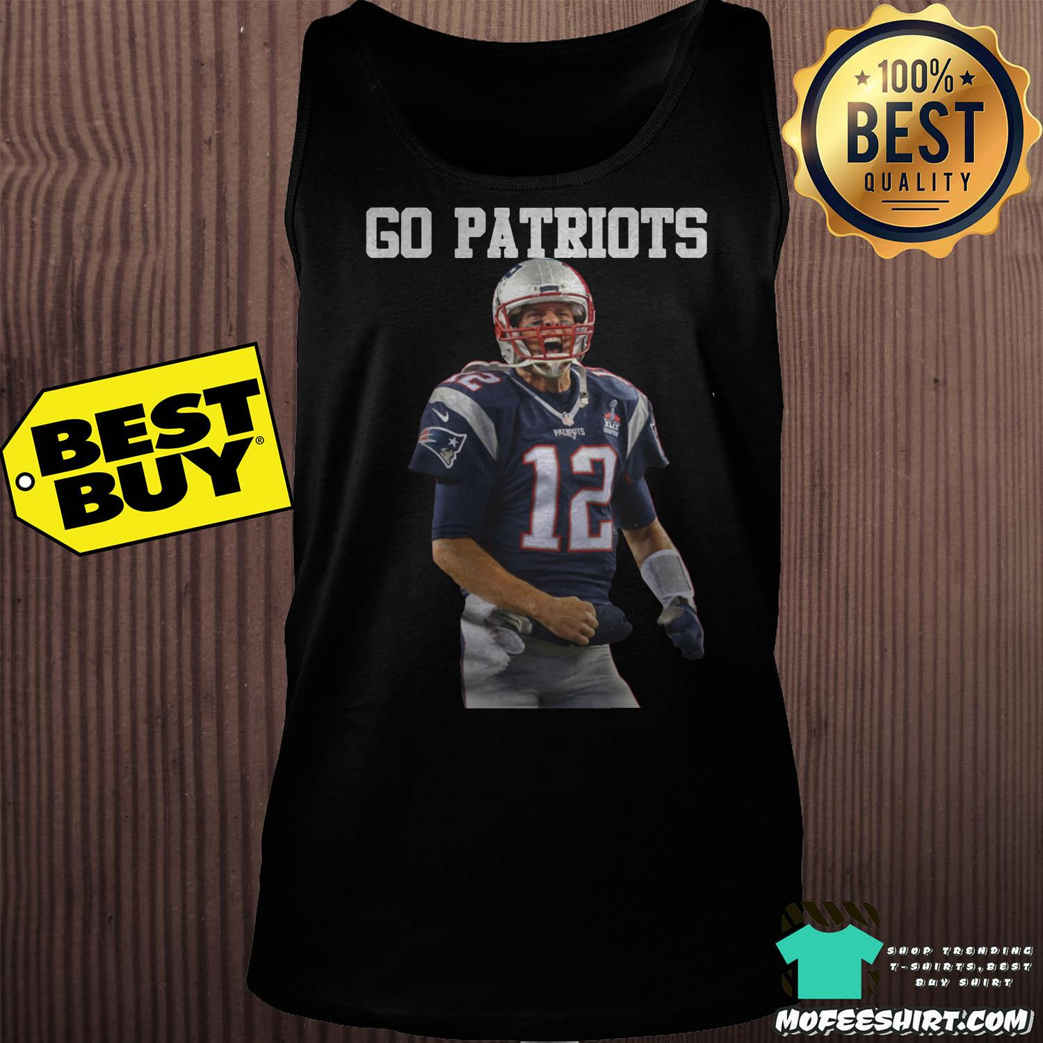 tom brady go patriots 12 rugby tank top - Tom Brady Go Patriots 12 Rugby Shirt