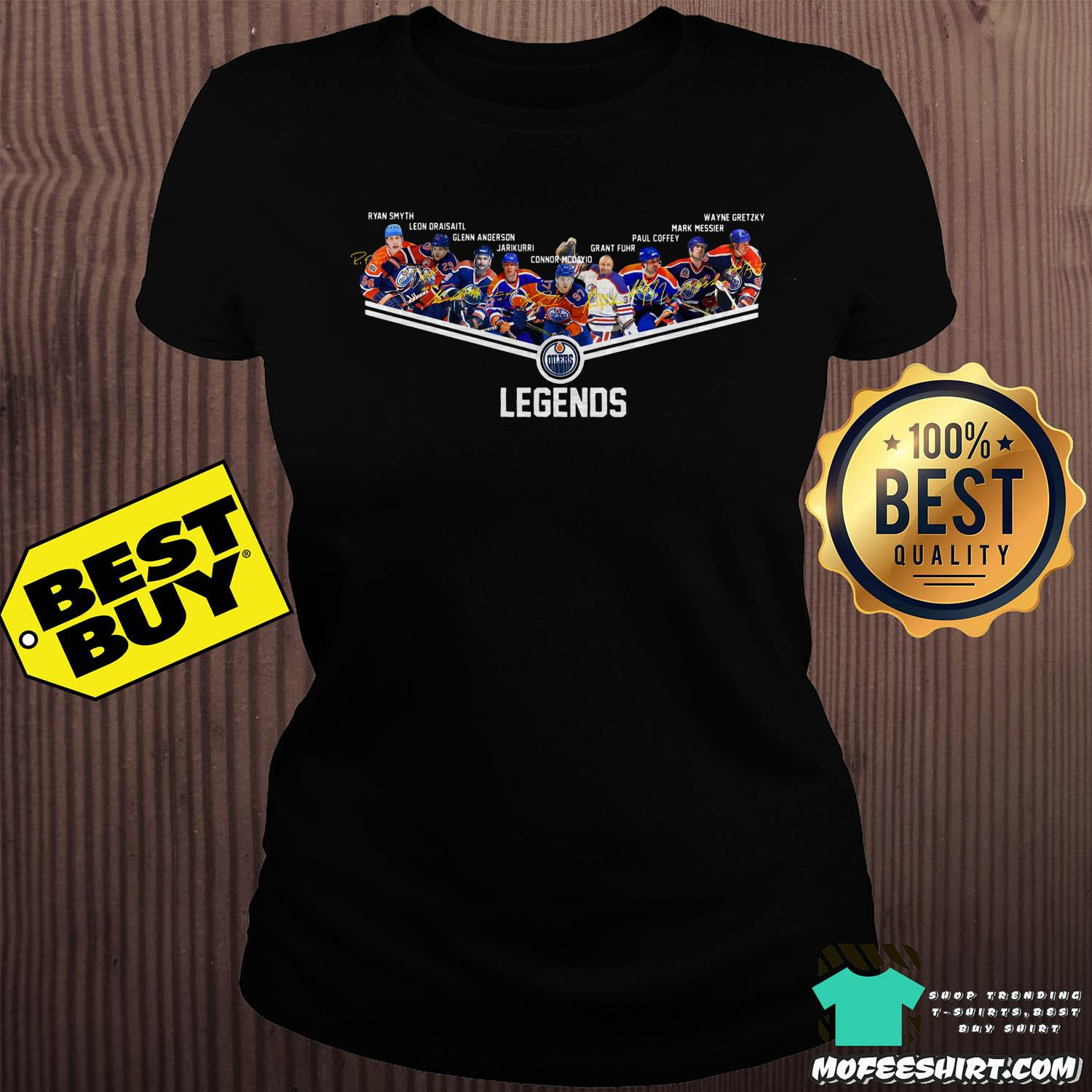edmonton oilers legend all players signatures ladies tee - Edmonton Oilers legend all players signatures shirt