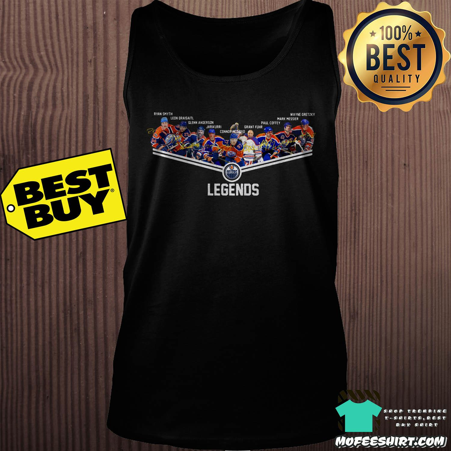 edmonton oilers legend all players signatures tank top - Edmonton Oilers legend all players signatures shirt