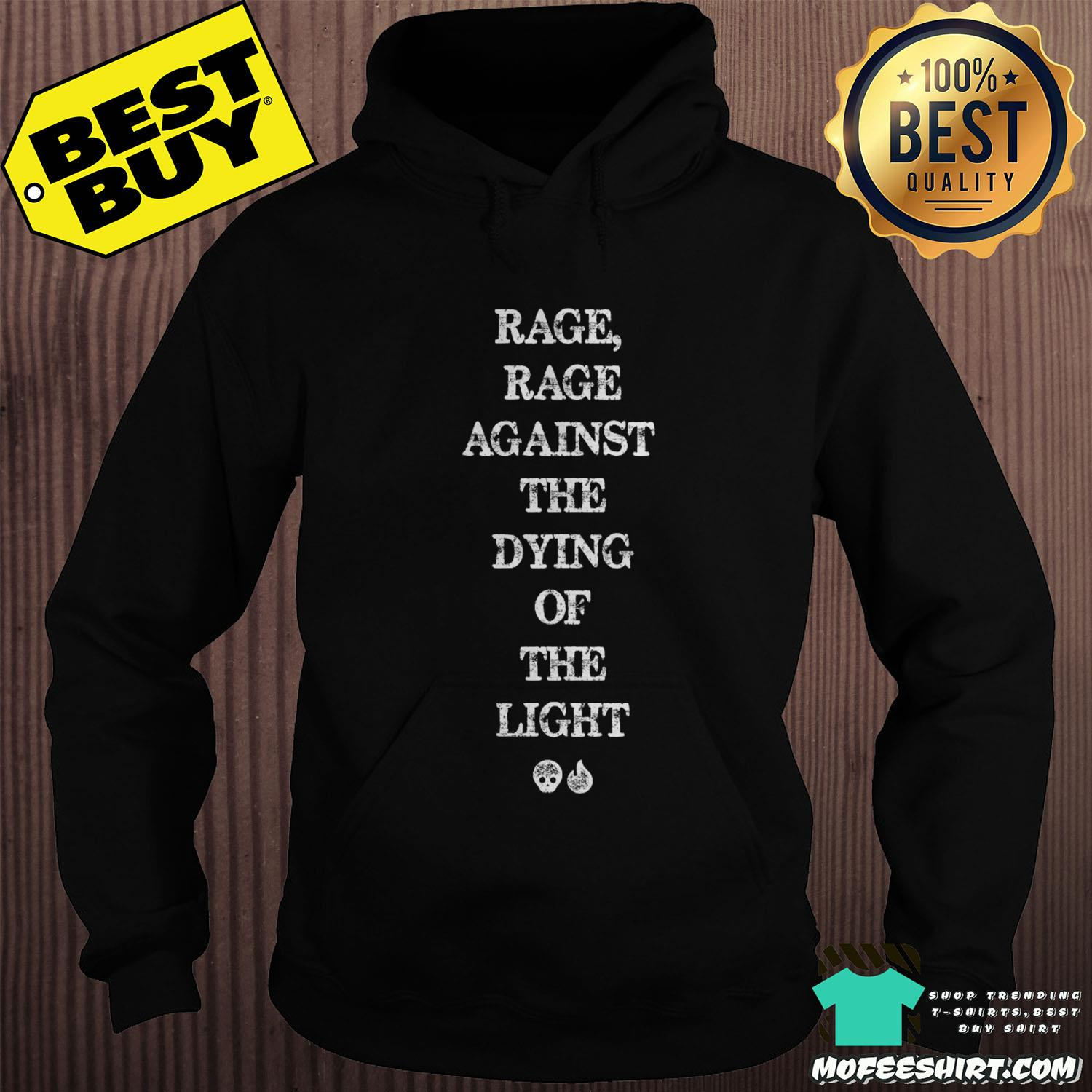 Rage Rage Against The Dying Of The Light Skull Fire Shirt