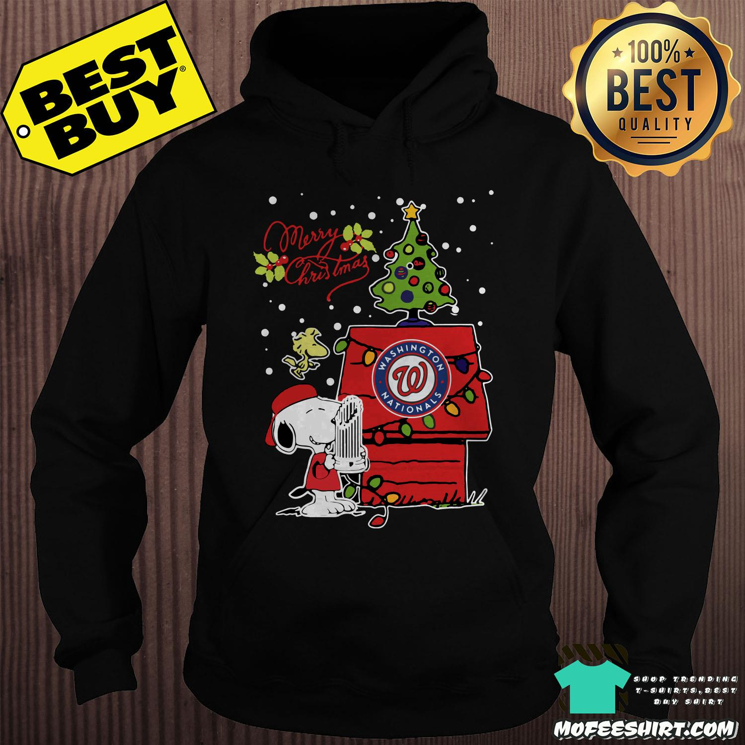 Washington Nationals Snoopy And Woodstock Merry Christmas Shirt