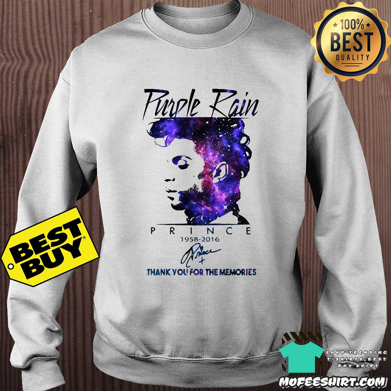 Purple Rain Prince 1958-2016 Thank You For The Memories Signature Sweatshirt Sweater