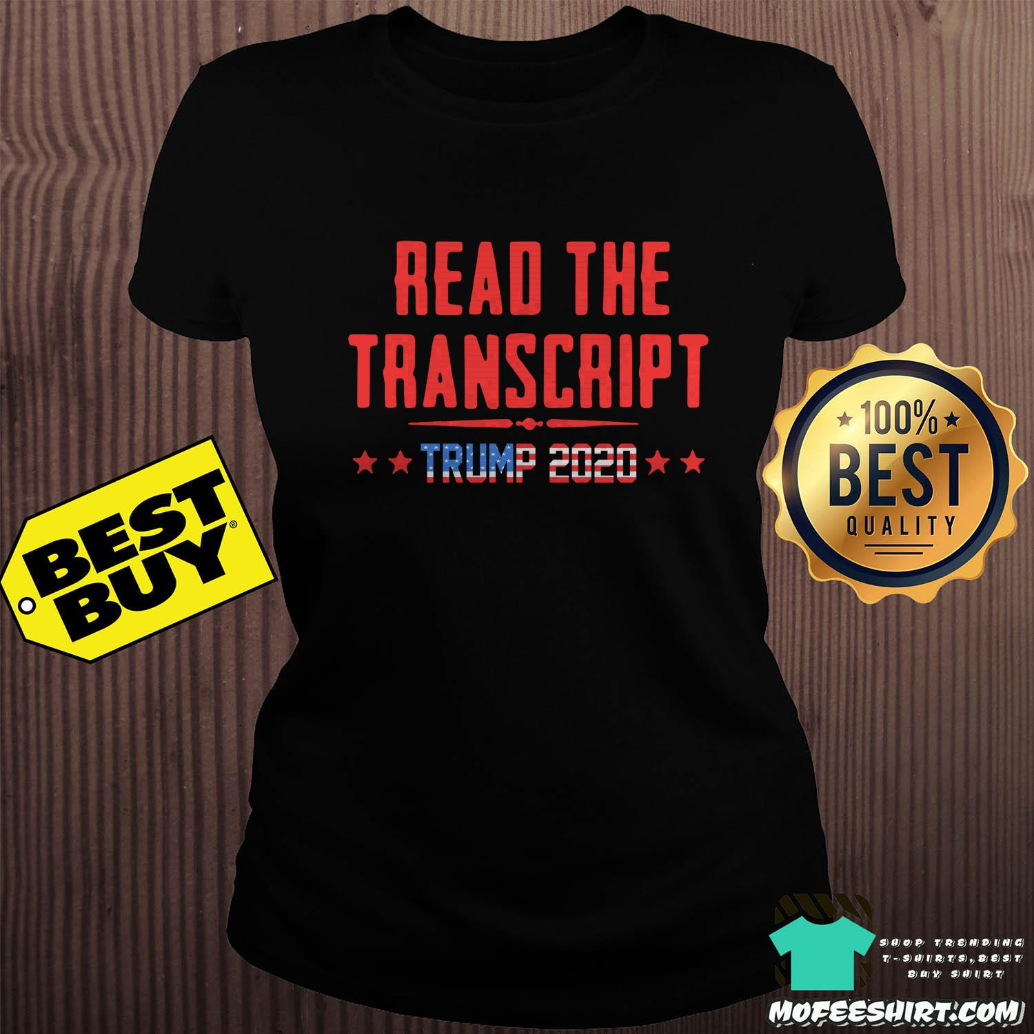 read the transcript trump impeachment day ladies tee sweater - Read The Transcript Trump Impeachment Day Shirt Sweater