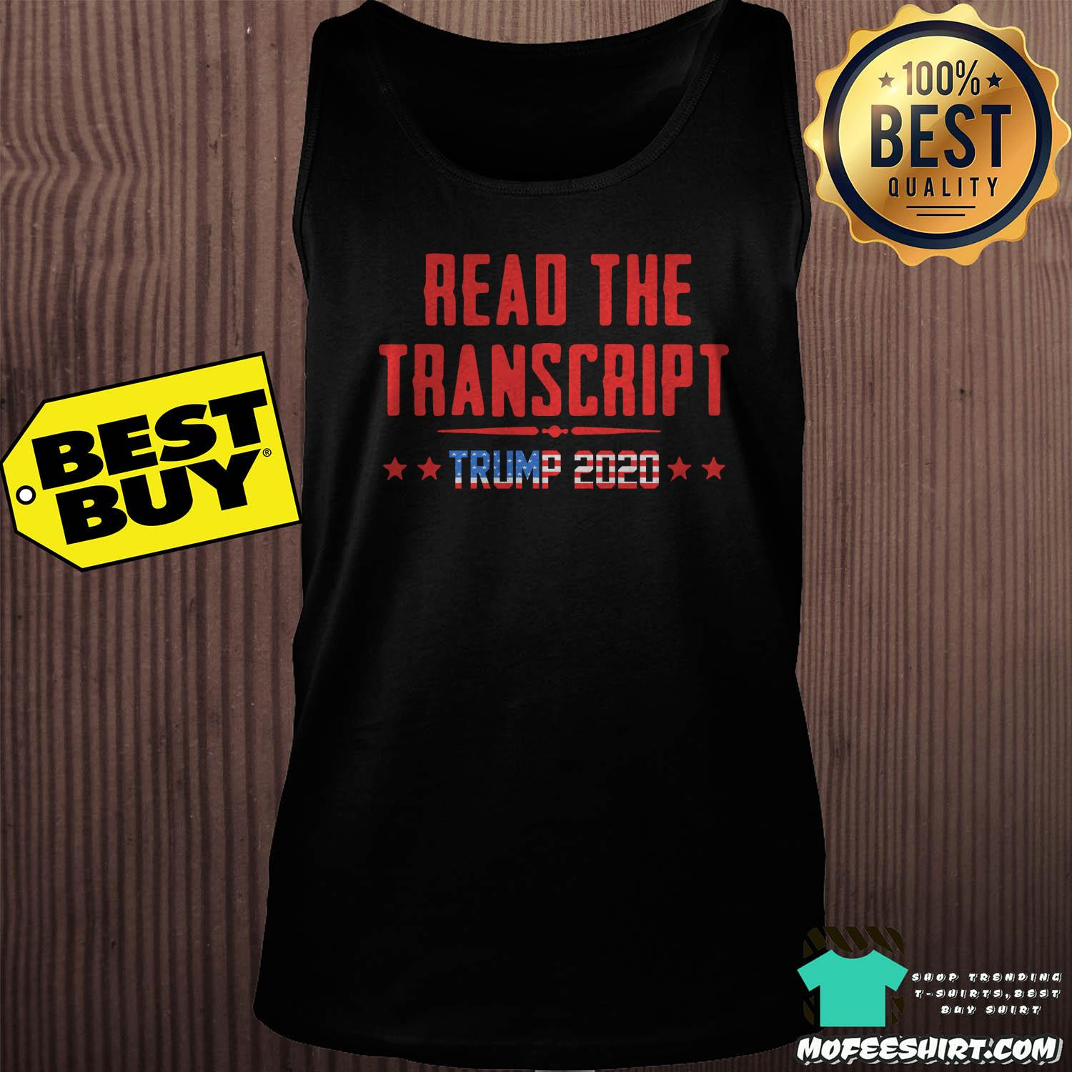 read the transcript trump impeachment day tank top sweater - Read The Transcript Trump Impeachment Day Shirt Sweater