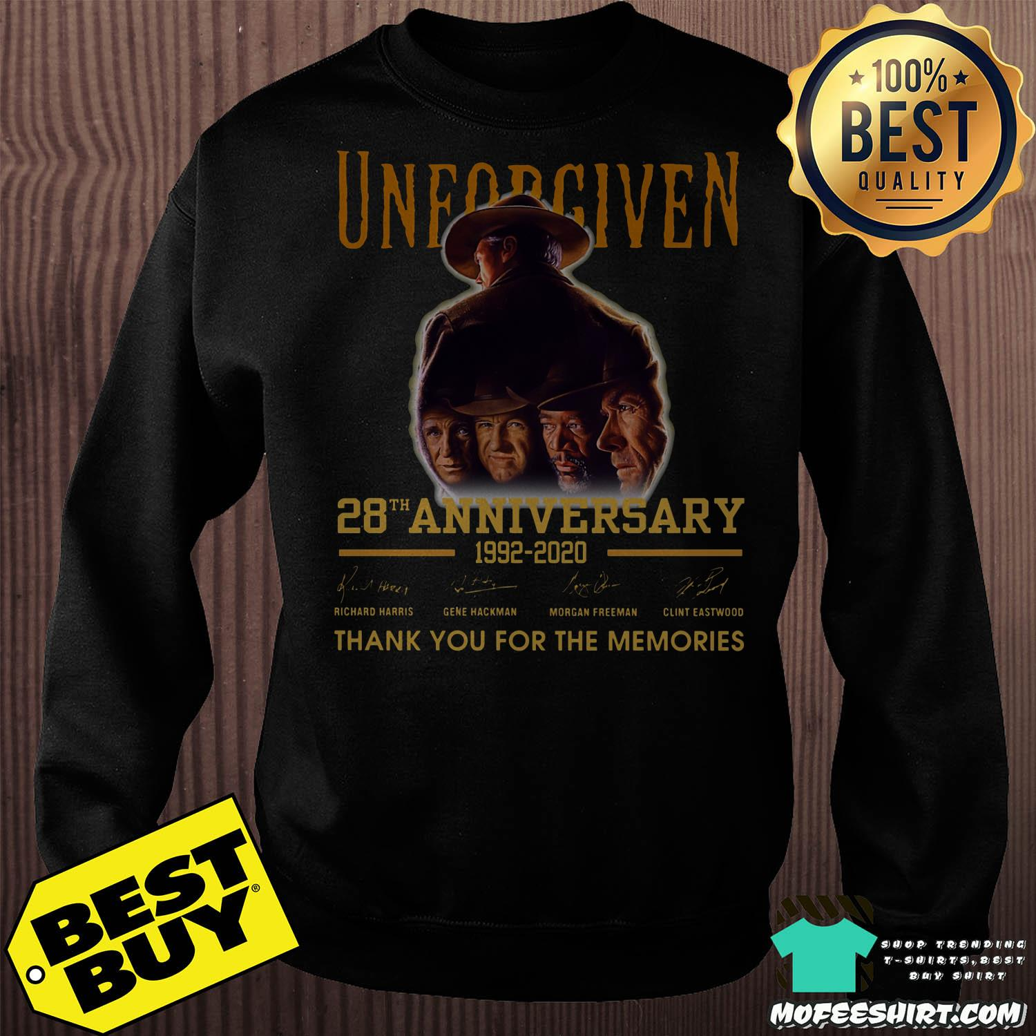 unforgiven 28th anniversary 1992 2020 signature thank you for the memories Sweater - Unforgiven 28th Anniversary 1992-2020 Signature Thank You For The Memories Shirt