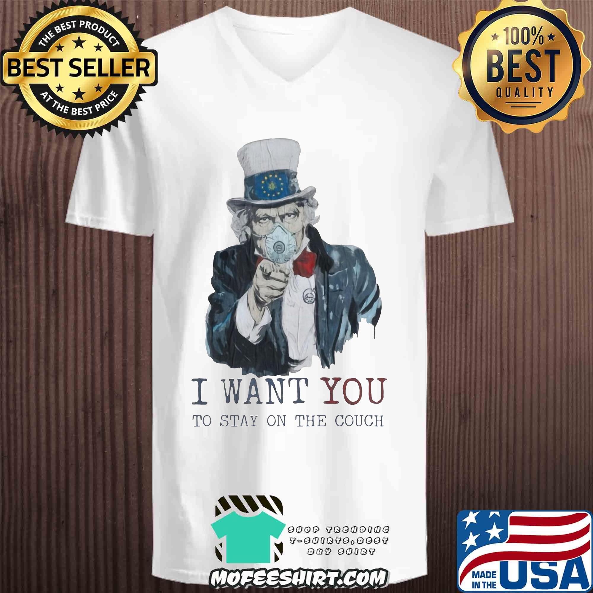 Uncle Sam I Want You To Stay On The Couch Covid-19 shirt