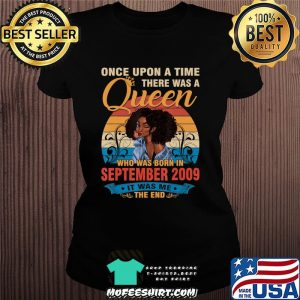 11 Year Old Birthday 11th Birthday Queen September 2009 T-Shirt Ladiestee
