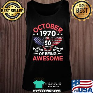 Eagles Born October 1970 Birthday 50 Years Of Being Awesome T-Shirt Tank top