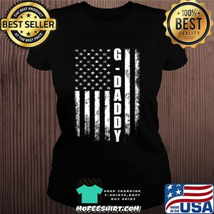 G-daddy Gift America Flag Christmas Gift For Men Father'day T-Shirt Ladiestee