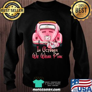 In October We Wear Breast Cancer Awareness Pink Skull Gift T-Shirt Sweater