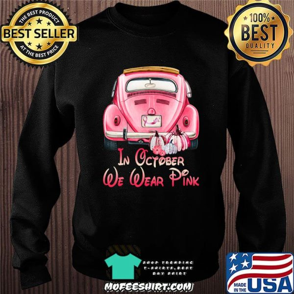 In October We Wear Breast Cancer Awareness Pink Skull Gift T-Shirt