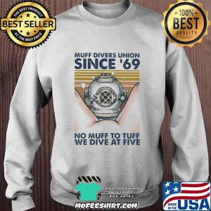 Scuba diving muff divers union since 69 no muff too tough we dive at five vintage retro s Sweater