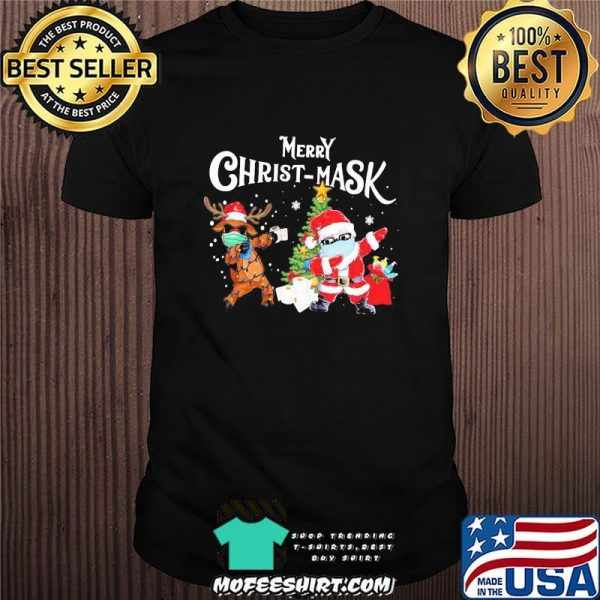Merry Christmask Santa Clause Reindeer Wear Mask Toilet Paper Shirt