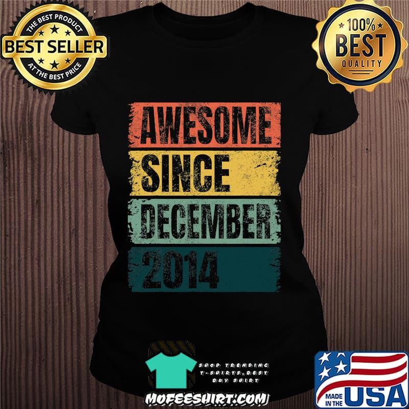 Awesome Since December 2014 Retro Colors 6th Shirt