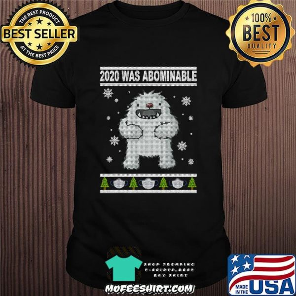 2020 Was Abominable Yeti Christmas Tree Face Mask Shirt