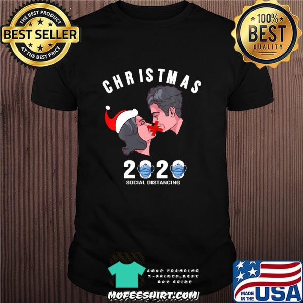 Christmas 2020 Social Distancine No Kiss Wear Mask Shirt