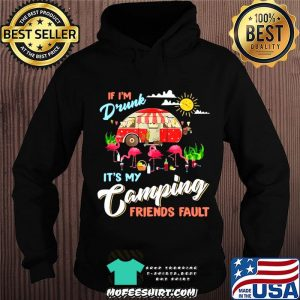 Camper If I'm Drunk It's My Camping Friends Fault Flamingo Hoodie