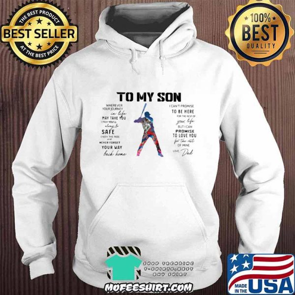 Baseball Dad To My Son Love You Colors Shirt