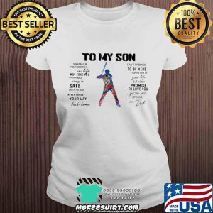 Baseball Dad To My Son Love You Colors Shirt V-neck