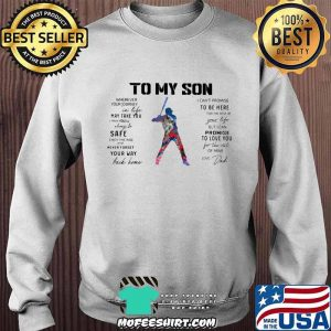 Baseball Dad To My Son Love You Colors Shirt Sweater