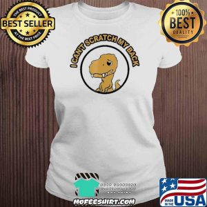 I Can't Scratch My Back Rax Stone Age Rex Mad Funny Shirt V-neck