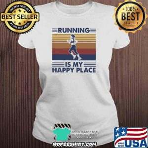 Running Is My Happy Place Vintage Shirt V-neck