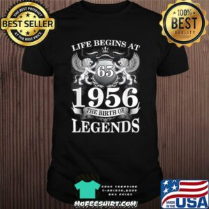 Life begins at 1956 the birth of legend lion shirt