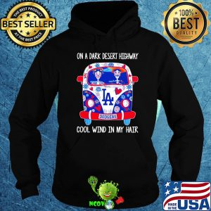 Los angeles dodgers hippie bus skeleton on a dark desert highway cool wind in my hair shirt