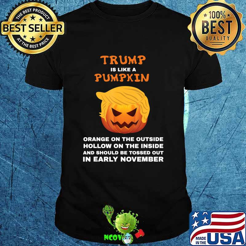 Funny Anti-Trump Toss Out in Early November Vote Halloween T-Shirt