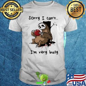 Sorry I Can't I'm Very Busy Sloth Bowling Shirt