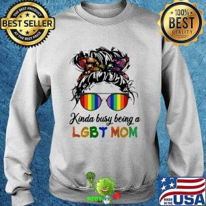 Kinda Busy Being A LGBT Mom Girl Flower Sweater